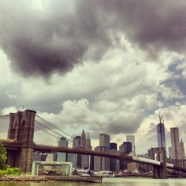 A half stormy day looking over to downtown Manhattan.