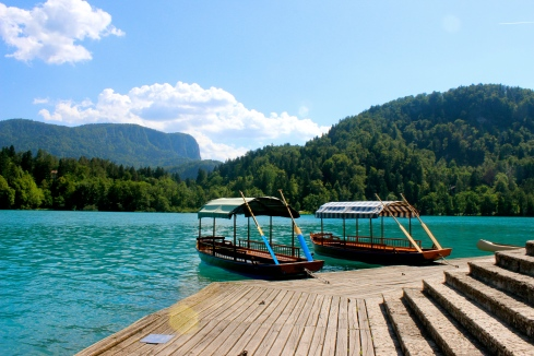 The special Bled boats, hand oared, without rudders