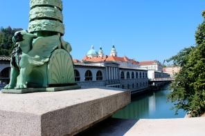 The dragon bridge in Ljubljana.