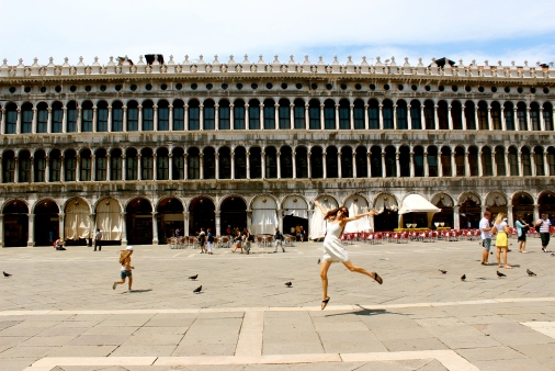 Ballerina Katie in St. Mark's square