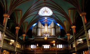 The organ at Notre Dame