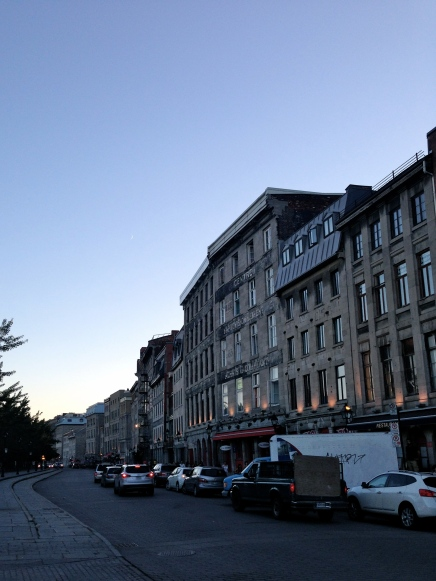Rue de la Commune at dusk